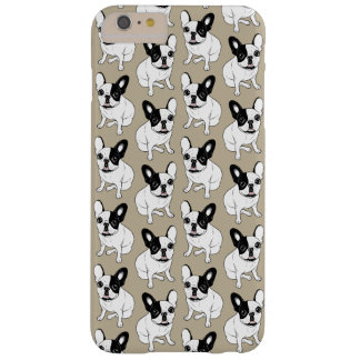 Funda Barely There iPhone 6 Plus Solo Frenchie de varios colores Brindle