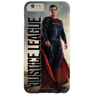 Funda Barely There iPhone 6 Plus Superhombre de la liga de justicia el | en campo