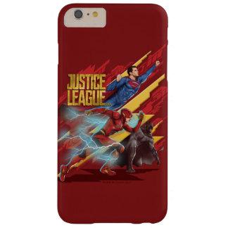Funda Barely There iPhone 6 Plus Superhombre de la liga de justicia el |, flash, y