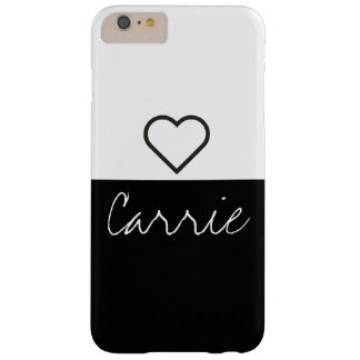 Funda Barely There iPhone 6 Plus Texto y fuente adaptables negros y del blanco