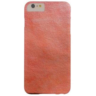 Funda Barely There iPhone 6 Plus textura anaranjada