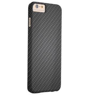 Funda Barely There iPhone 6 Plus Textura clásica de la fibra del grafito