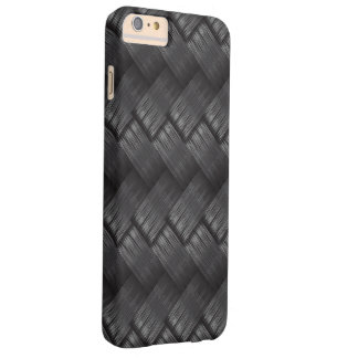Funda Barely There iPhone 6 Plus Textura de la armadura de la fibra de carbono
