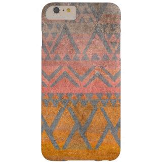 Funda Barely There iPhone 6 Plus Textura tribal de la piedra arenisca del desierto