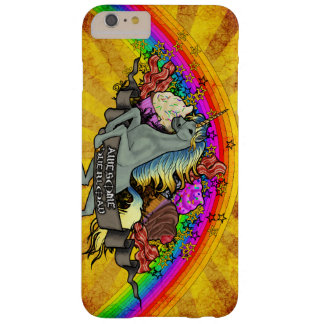 Funda Barely There iPhone 6 Plus Unicornio impresionante, arco iris y tocino de la