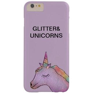 Funda Barely There iPhone 6 Plus Unicornio purpúreo claro+caso del iphone 6 del