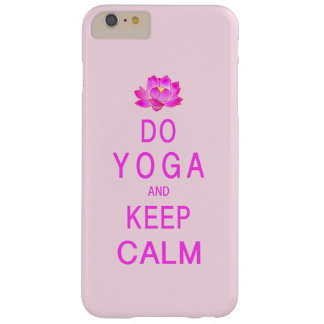 Funda Barely There iPhone 6 Plus Yoga con la flor de Lotus