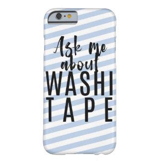 Funda Barely There iPhone 6 Pregúnteme acerca de la cinta de Washi - caramelo