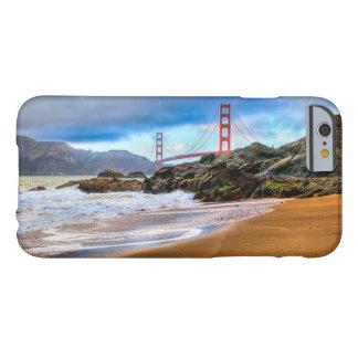 Funda Barely There iPhone 6 Puente Golden Gate en la puesta del sol