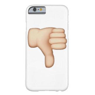 Funda Barely There iPhone 6 Pulgares abajo - Emoji