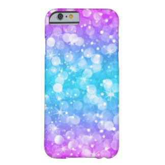 Funda Barely There iPhone 6 Purpurina atractivo GR4 rosado y azul de Ombre de
