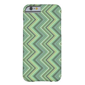 Funda Barely There iPhone 6 Rayas del zigzag del verde verde oliva