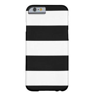 Funda Barely There iPhone 6 Rayas horizontales negras y blancas el | cualquier