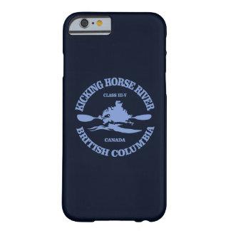 Funda Barely There iPhone 6 Retroceso del río del caballo con el pie