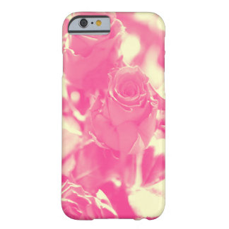 Funda Barely There iPhone 6 Rosa y rosas amarillos suaves