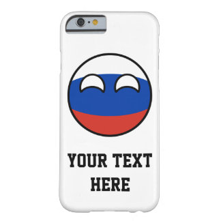 Funda Barely There iPhone 6 Rusia Geeky que tiende divertida Countryball