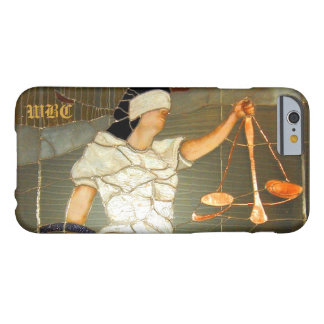 Funda Barely There iPhone 6 Señora majestuosa Justice Portrait en vitral