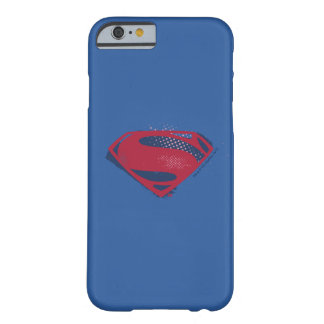 Funda Barely There iPhone 6 Símbolo del superhombre del cepillo y del tono