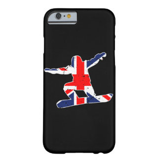 Funda Barely There iPhone 6 SNOWBOARDER de Union Jack (blanco)