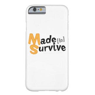Funda Barely There iPhone 6 Sobreviva la esclerosis múltiple Awarness