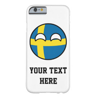Funda Barely There iPhone 6 Suecia Geeky que tiende divertida Countryball