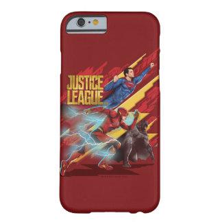 Funda Barely There iPhone 6 Superhombre de la liga de justicia el |, flash, y