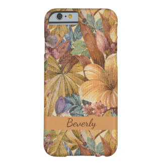 Funda Barely There iPhone 6 Tapicería floral personalizada - marrón, beige