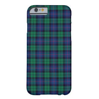 Funda Barely There iPhone 6 Tartán del azul real y del verde del clan de