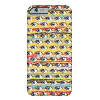 Funda Barely There iPhone 6 Teléfono del ojo en fondo de los movimientos