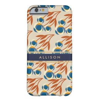 Funda Barely There iPhone 6 Teléfono personalizado floral de la marfil, del