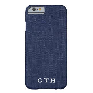 Funda Barely There iPhone 6 Textura azul marino de la parte posterior del