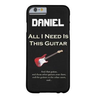 Funda Barely There iPhone 6 Toda lo que necesito es esta guitarra, divertida,