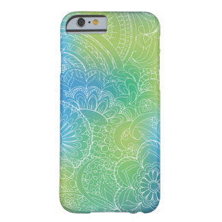 Funda Barely There iPhone 6 transparent white zen pattern blue gradient