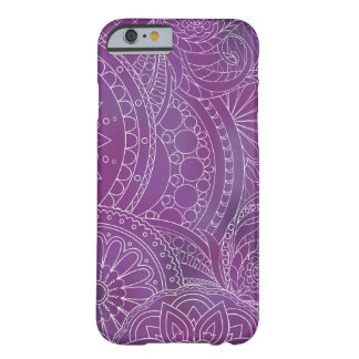 Funda Barely There iPhone 6 transparent white zen pattern dark violet gradient