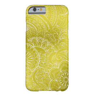 Funda Barely There iPhone 6 transparent white zen pattern gold gradient