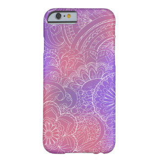 Funda Barely There iPhone 6 transparent white zen pattern violet gradient