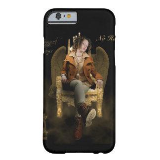 Funda Barely There iPhone 6 Trono femenino del ángel del golpeador