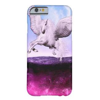 Funda Barely There iPhone 6 Unicornio rosado de la fantasía