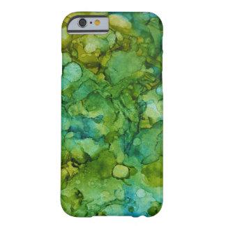 Funda Barely There iPhone 6 Verde azul del alcohol de la tinta del modelo