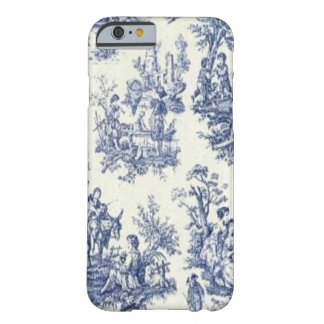 Funda Barely There iPhone 6 Vintage azul Toile