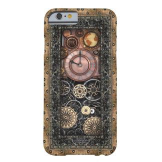 Funda Barely There iPhone 6 Vintage infernal Steampunk del reloj #2B de