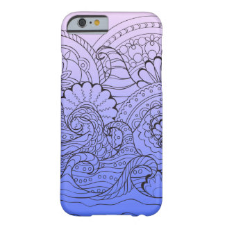 Funda Barely There iPhone 6 violet gradient zen pattern with waves