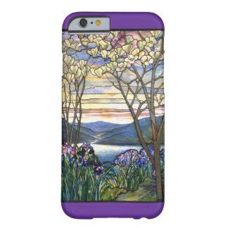 Funda Barely There iPhone 6 Vitral de la magnolia y del iris