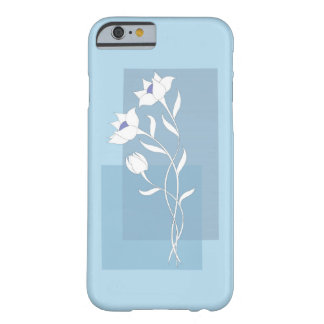 Funda Barely There iPhone 6 white flowers on the blue