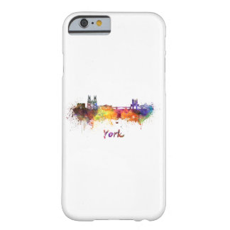 Funda Barely There iPhone 6 York skyline in watercolor