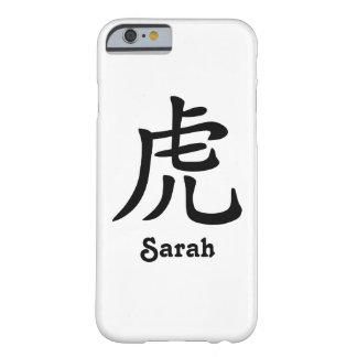 Funda Barely There iPhone 6 Zodiaco chino - tigre - negro