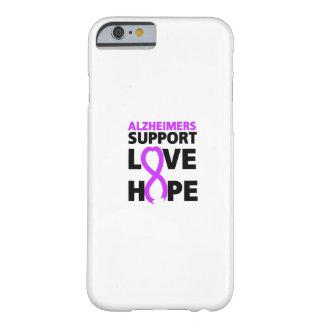 Funda Barely There Para iPhone 6 Amor púrpura de la ayuda de la cinta de la