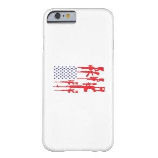 Funda Barely There Para iPhone 6 Arma patriótico del orgullo de los E.E.U.U. de la