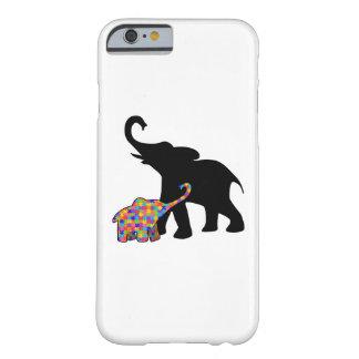 Funda Barely There Para iPhone 6 Ayuda de la conciencia del autismo del elefante