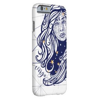Funda Barely There Para iPhone 6 Azules marinos del zodiaco del virgo y caja del